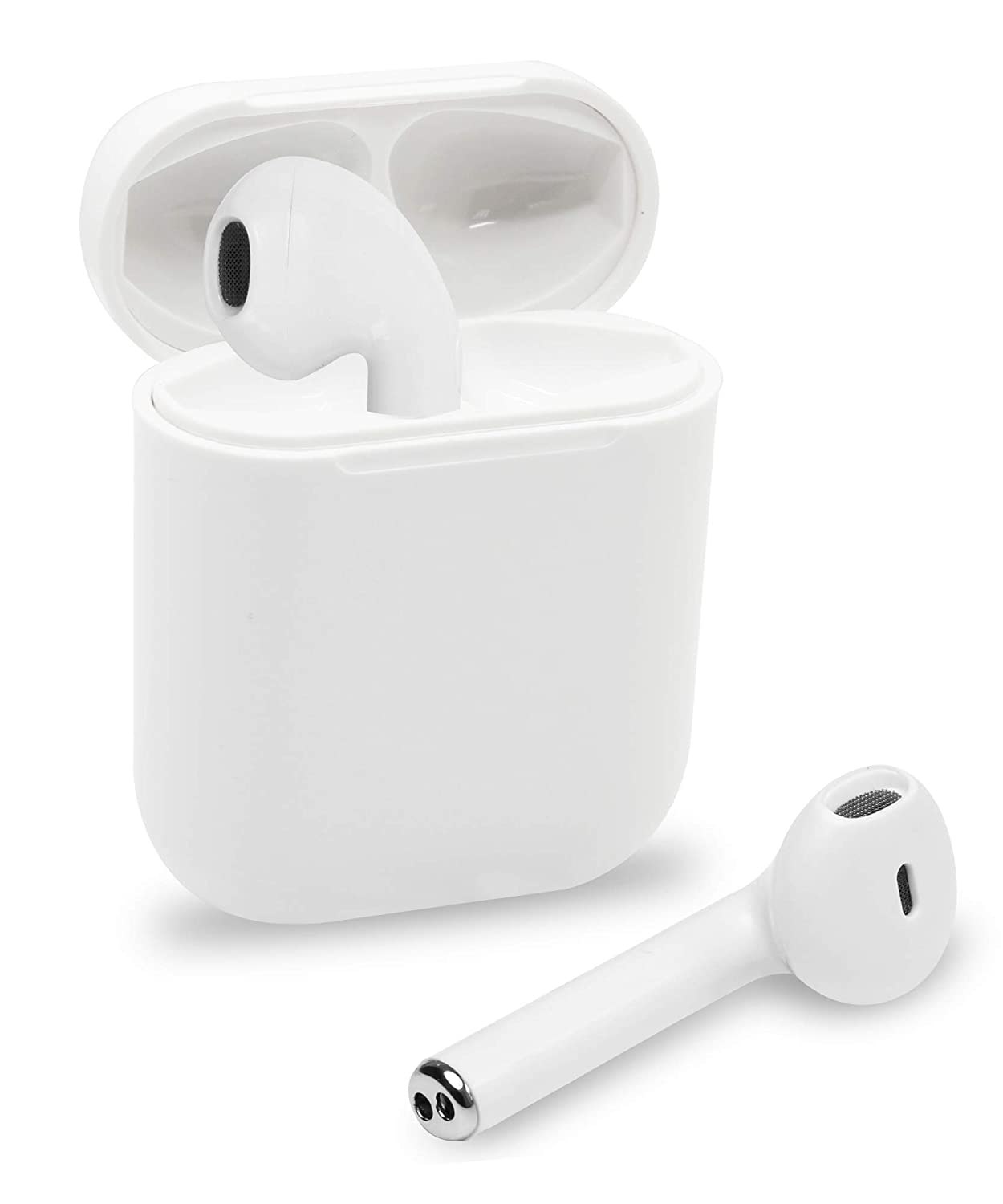 Impecca True Wireless Earphone with Microphone, and Charging Case, Bluetooth Pairing Hands-Free Calling White Truly Wireless