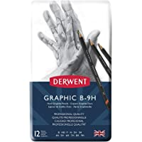 Derwent Graphic Techincal Set Tin 12 (Hard Grades)