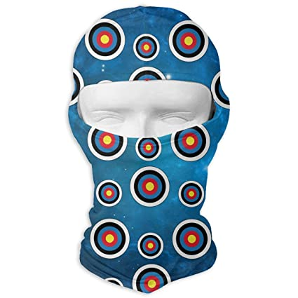 Queendesign Colorado Flag Archery Target Balaclava - Windproof   Dust  Protection Motorcycle Helmet Liner Soft and Breathable Face Mask Warmer  Balaclava Hood 87e642c06bd5