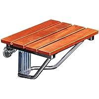 QINAIDI Faltbarer Anti-Rutsch-Wand-Duschhocker, Massivholz-Brausehalter für Senioren/Behinderte, Duschstuhl