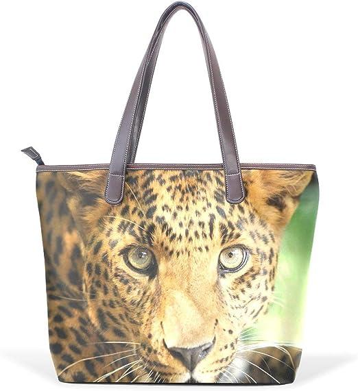 Leopard Pattern Print Womens Fashion Large Tote Ladies Handbag Shoulder Bag