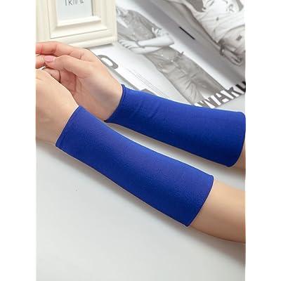 Le bracelet messieurs de l'ombre en été et le tattoo long sleeve le mouvement des bras pour essuyer la sueur de poignets de poignets ensemble la fille et slim décoration ,18cm- L-2, Bleu royal