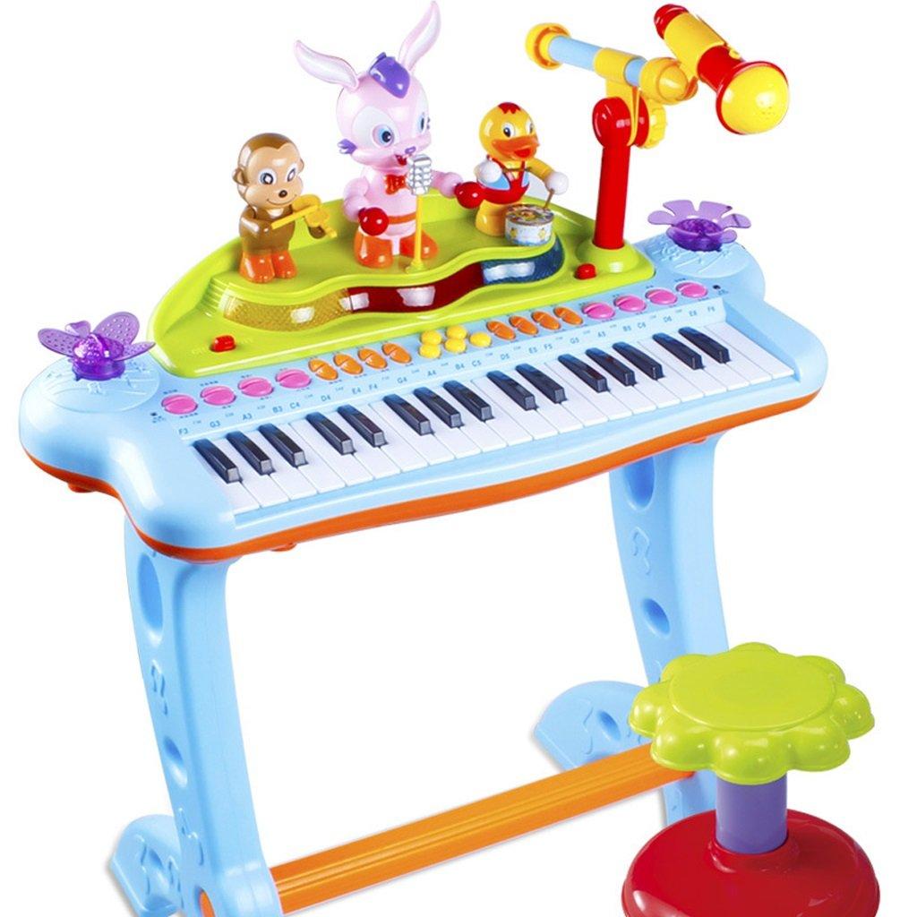 Kinder Tastatur Spielzeug mit Mikrofon Baby multifunktionale Klavier wiederaufladbare 1-3-6 Jahre alte Mädchen Anfänger