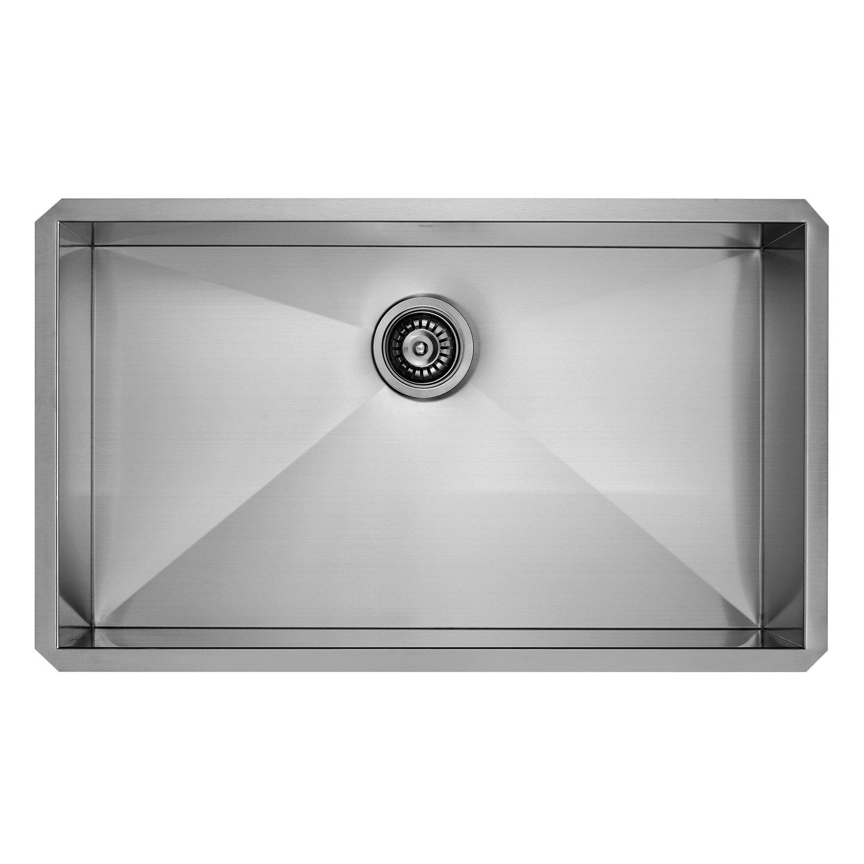 vigo 30 inch undermount single bowl 16 gauge stainless steel