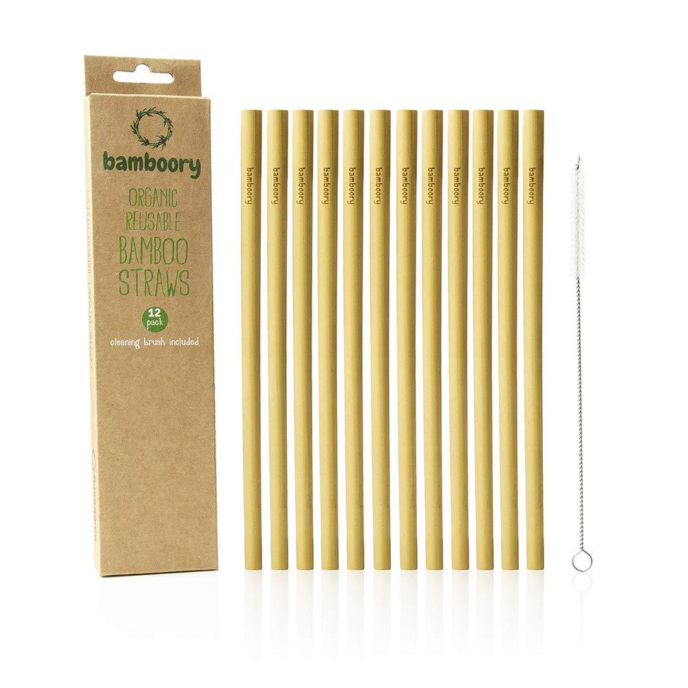 Pajitas de Bambú Reutilizable | 100% Orgánico y Biodegradable | Respetuoso Con el Medio Ambiente