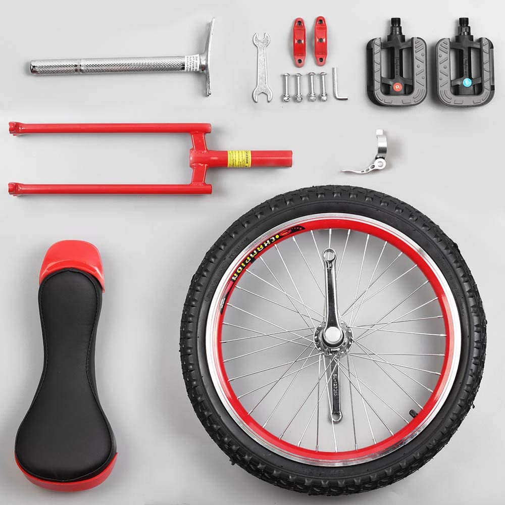 Aluminum Alloy Buckle Adjustable Seat Topleads 24 inch 20inch 18 inch Junior Unicycle High-Strength Manganese Steel Fork