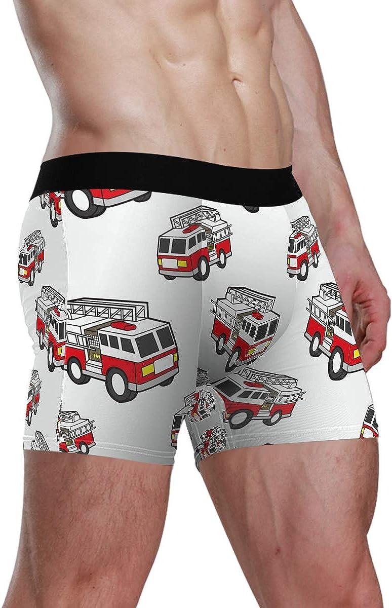 Motivo Creativo S Kelroael Boxer da Uomo per Camion dei Pompieri Comodi e Morbidi