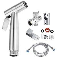 Handheld Bidet Sprayer, Stainless Steel Handheld Toilet Bidet Sprayer Bathroom Shower Water Spray Head Set