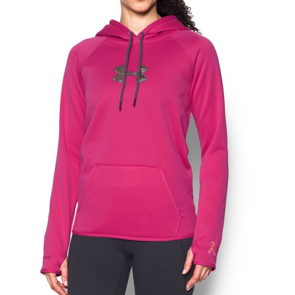 Under Armour Women's Icon Caliber Hoodie, Tropic Pink (654)/Realtree Ap-Xtra, X-Small