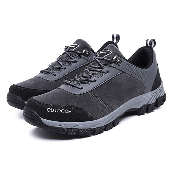 Amazon.com | Polwer Mens Hiking Shoes Fashion Outdoor Running Anti-Slip Lightweight Sneaker | Shoes