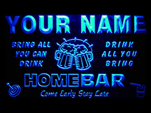 Personalized LED Neon Bar Sign Home Light Up Drink Pub personalised own name