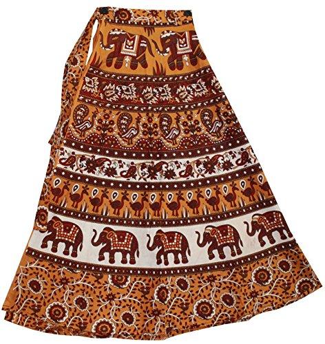 Odishabazaar Womens Wrapskirt Sarong Long Cotton Wrap Around Skirt (multi-6)