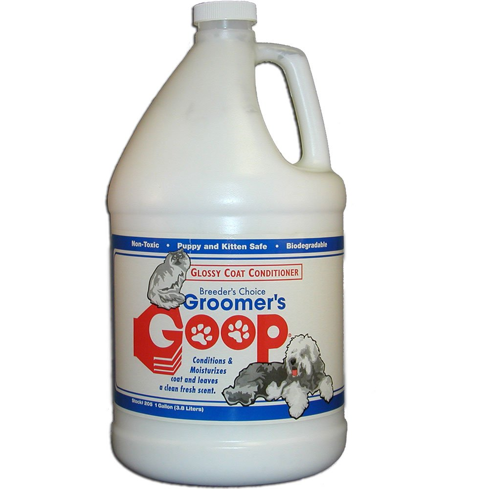 GROOMER'S GOOP Glossy Coat Pet Conditioner with Pump, 1-Gallon