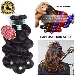 Body Wave 3 Bundles Virgin Human Hair 8A Unprocessed Brazilian Virgin Hair Extension Natural Color (10'' 12'' 14'')