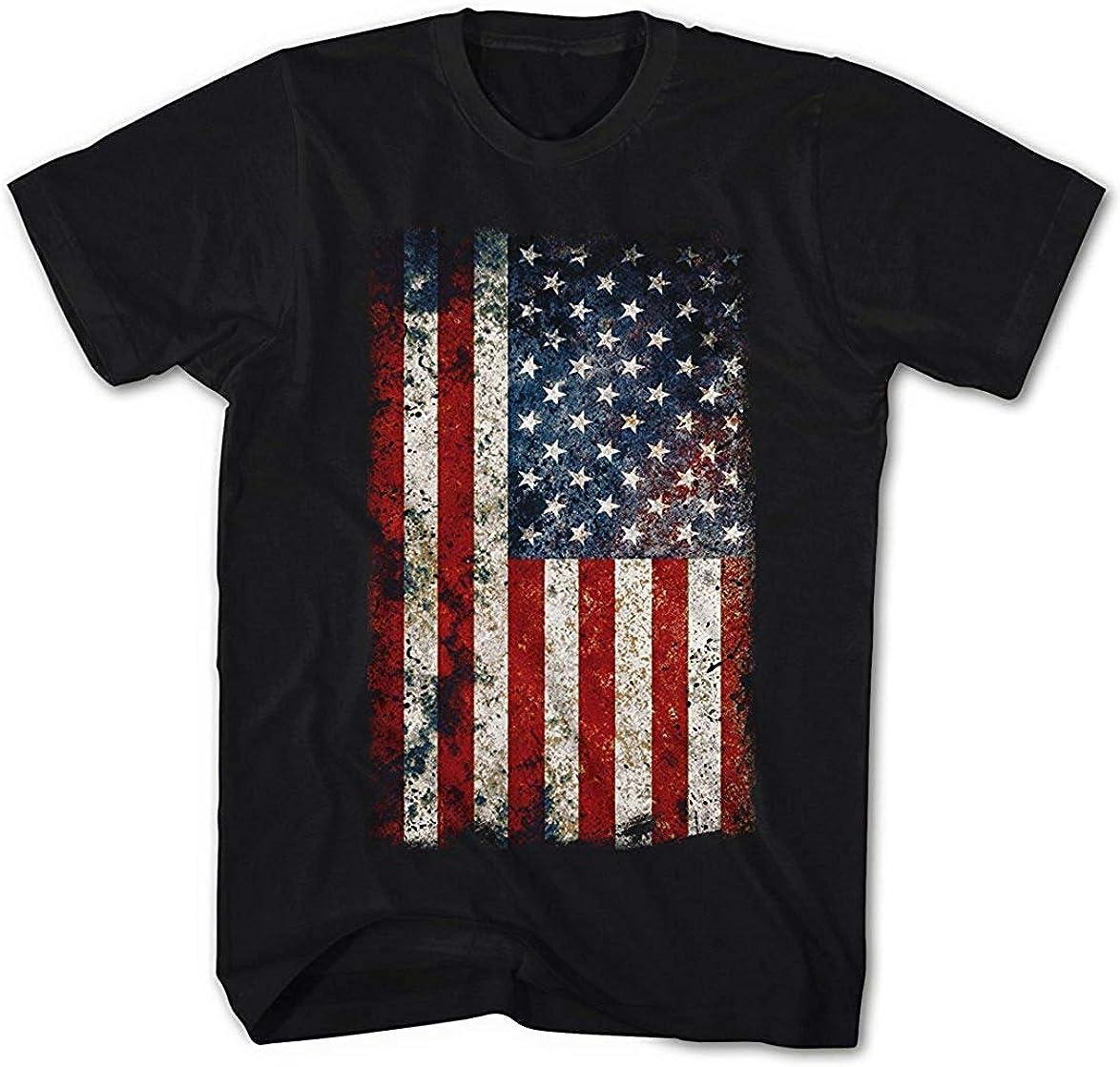 Hombre Camiseta de Estados Unidos Bandera Vintage Grunge Look: Amazon.es: Ropa y accesorios