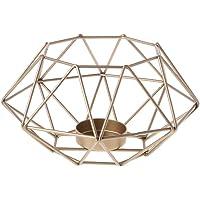 yinuneronsty - Vela de Metal con diseño geométrico