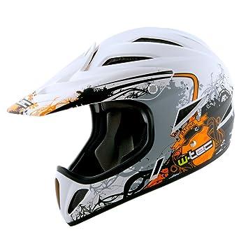 Worker Downhill - Casco de bicicleta, varios diseños y tamaños KTM orange Talla:M