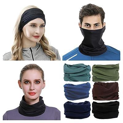 6pc Cooling Face Scarf Mask Neck Gaiter Biker Bandanas Beanie Cover Cap Headwrap