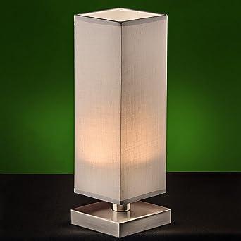 Klassische Tischleuchte Touch Funktion Tischlampe Nachttischleuchten Tisch weiß