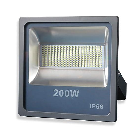 Luz de inundación H Foco Reflector LED para Exterior Impermeable ...