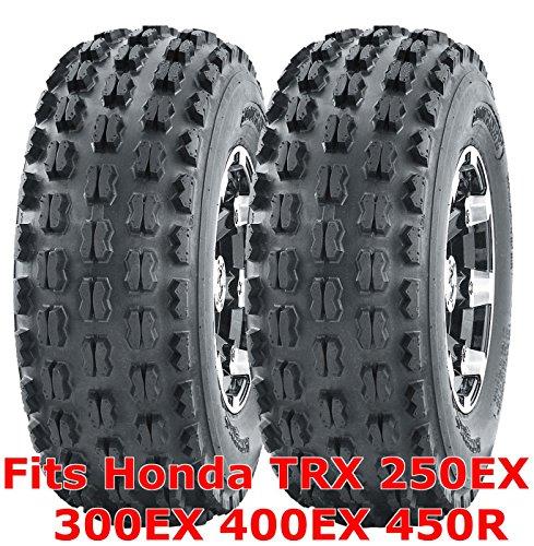 Tires Honda 400ex (2 ATV Tires 22x7-10 22x7x10 Honda TRX 250EX 300EX 400EX 450R front GNCC Racing)