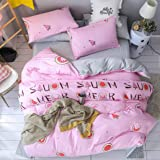 jingsha Pure Color Washed Cotton Simple Style Bedding Set Duvet Cover Pillowcase Sheet Linen Twin Full 3/4Pcs Bedclothes