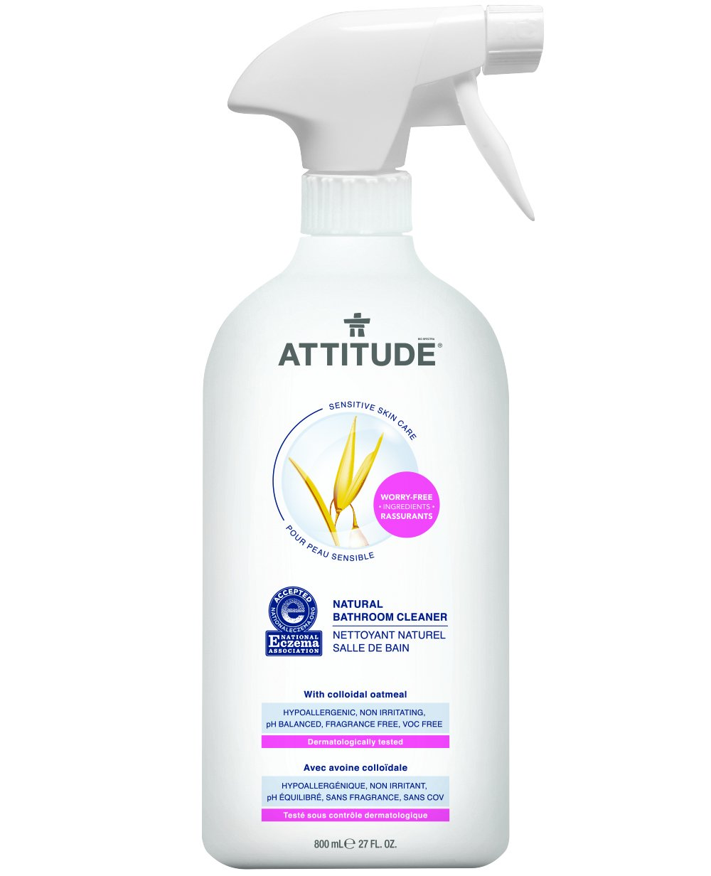 Natural Bathroom Cleaner, Hypoallergenic, Free of Contaminants and Potentially Harmful Preservatives, 100% Safe. (27.1 oz)