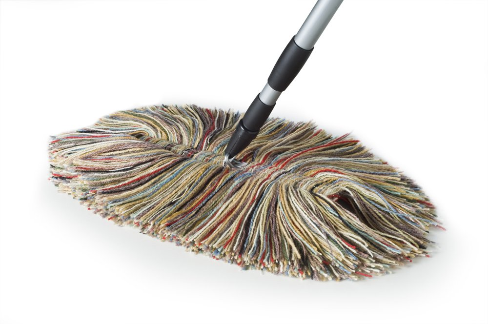 Wool Dust Mop - Big Wooly with Metal Telescoping Handle Sladust 100T