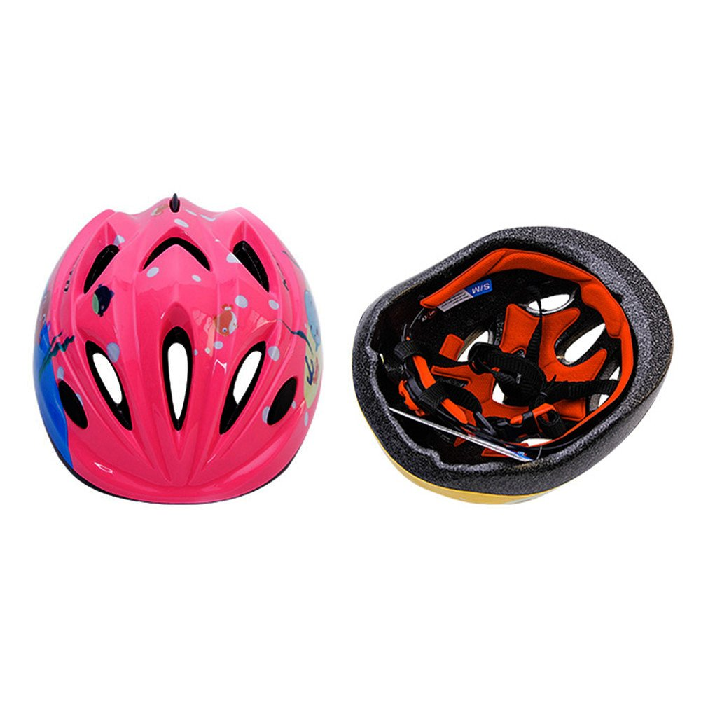 Big Boss Bike Helmets for Kids skateboard protective gear with Protective Gear Set Elbow Pads Knee Pads Wrist Guard for Cycling Skateboard Scooter Rollerblading Skating for kids 3 to 8 Years, M Pink