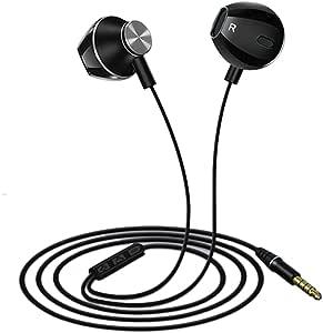 EdBerk74 T3 Moda Auriculares de Metal en la Oreja Bajos con Cable ...