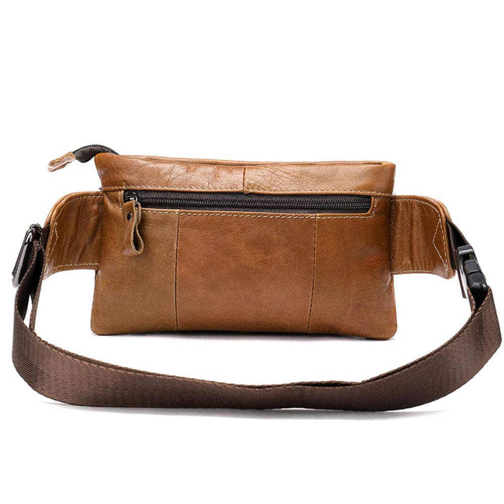 MKHDD Unisex Waist Packs Leather Crossbody Bags Casual High-Capacity Shoulder Chest Bag Travel Multi-Function Bag