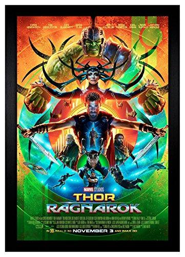 Thor Ragnarok Movie Poster Hulk Loki 24x36 Framed Movie Post
