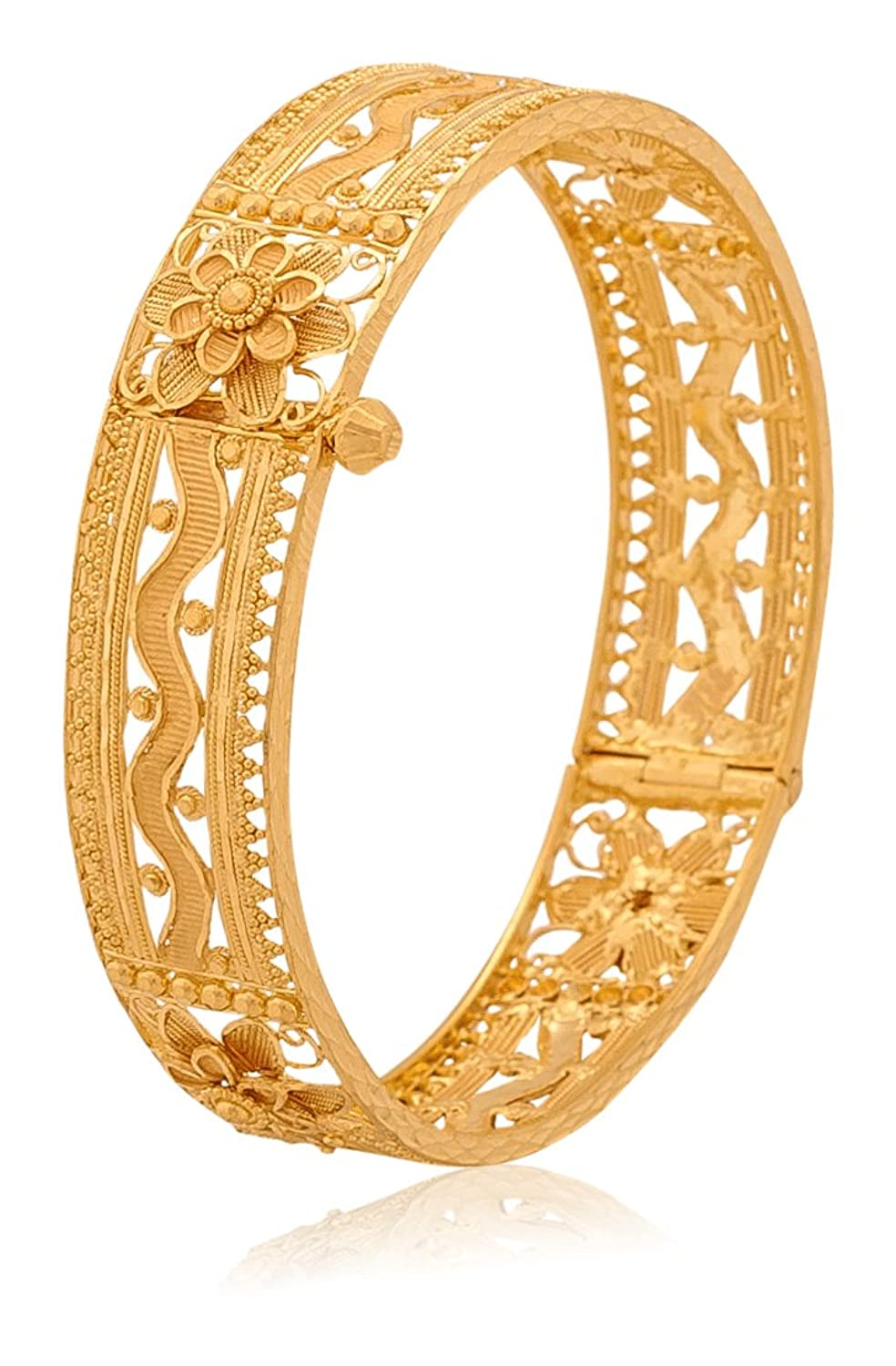 Buy Senco Gold Aura Collection 22k Yellow Gold Bangle Online at Low ...