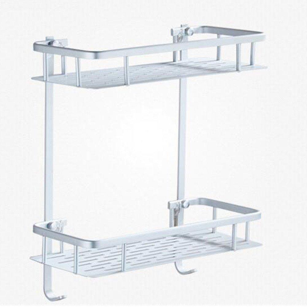 No Drilling, Adhesive Bathroom Shelves,HomesYoo Shower Caddy Storage Basket Shelf Rack Organiser For Kitchen, Bedroom,Bathroom (2 Tier)