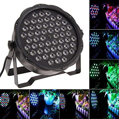 YMHWWW LED Stage Lights 54X3W LED DJ PAR Light RGBW 162Watt DMX 512 Stage Lighting Disco Projector for Home Wedding Party Church Concert Dance Floor Lighting