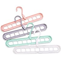 OUREIDA Magic Plastic Hangers,Space Saving Clothes Hangers,Multifunctional Smart Closet Organizer Rotate Anti-Skid…