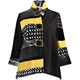 Moonlight Y&S Mixed-Media Button Front Jacket - 2842
