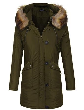 4332a46f826a Amazon.com: Zeagoo Women's Fashion Faux Fur Lapel Double-Breasted ...
