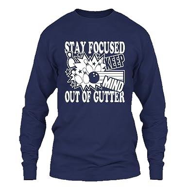 ddd9effe Addblack Bowling T Shirt - How to Play Bowling Cool T Shirts Design Long  Sleeve (