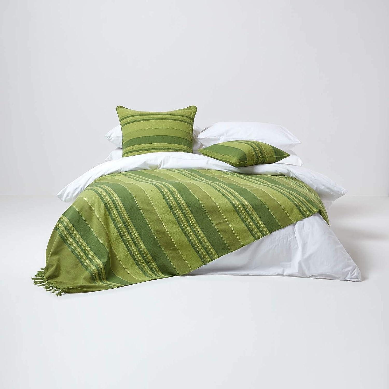 Homescapes Morocco/ /Bettw/äsche//Vorh/änge gr/ün federa cuscino 45 x 45 cm gr/ün Farbe