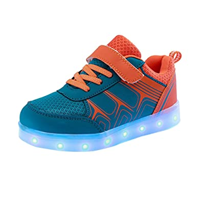 DoGeek LED Shoes  Led Light Up Shoes for Toddles  Boys  Girls and Kids with 7 Colors Light  6YJNACKHG