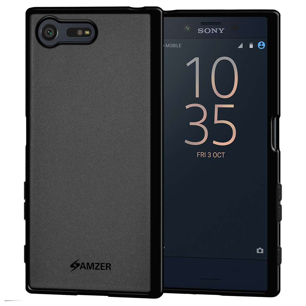 AMZER Pudding TPU Slim Soft Gel Skin Case Thin Protective Cover for Sony Xperia X Compact - Black