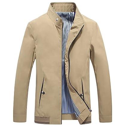 Man Trench Coat Giacca da Pilota Manica A Giubbino Cappotto