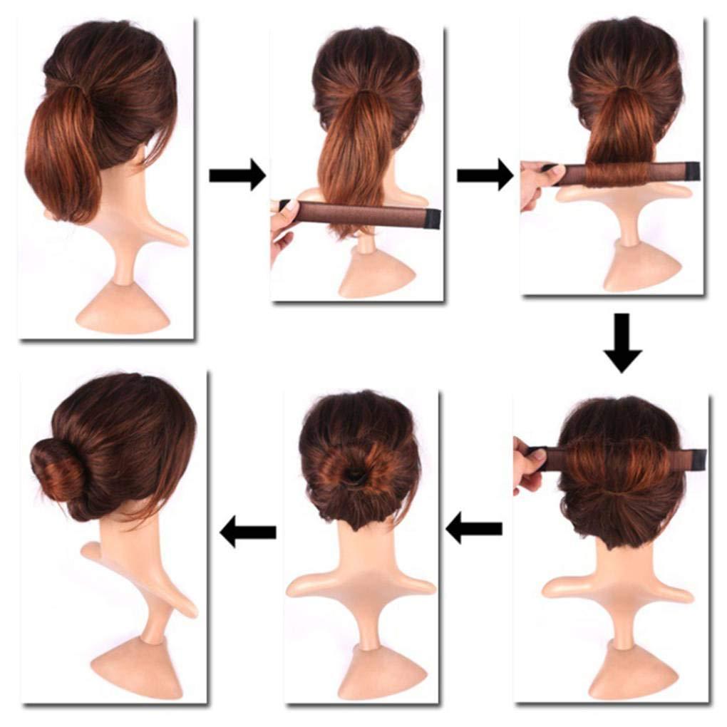 Bobury Parrucca Sintetica Donut Hairband delle Ragazze delle Donne Chignon attrezzo del creatore Bud Banda Hairstyle Twist Fai da Te