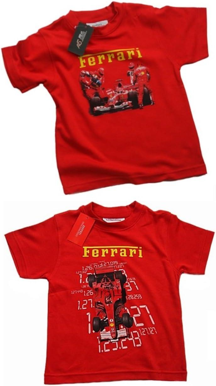 Ferrari Scuderia F1 Equipo Kids Pack de 2 Camisetas, Niños, Rojo ...