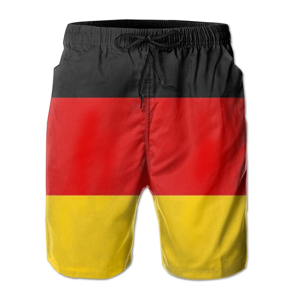 GYang Mens Beach Shorts Germany Flag Summer Printed Swim Breathable Quick-Drying Shorts Swim Trunks Boardshorts
