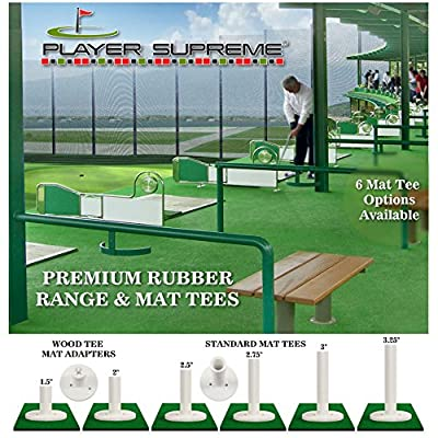 3 Pack Rubber Golf Tees for Practice & Driving Range Mats