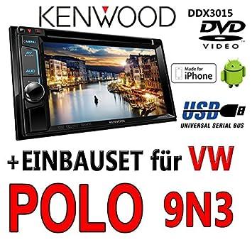 Kenwood DDX3015-2DIN Multimedia USB DVD Autoradio - Einbauset für ...