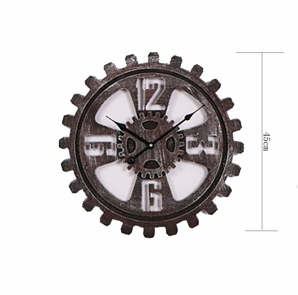 リビングルームのオフィス業界のためのウォールクロックベル時計の壁時計ヴィンテージギアの大きな壁時計のベッドルームの大きなキッチン大きな壁時計リビングルームの振り子のための現代の壁時計 (サイズ さいず : 58センチメートル) B07D76PBF858センチメートル