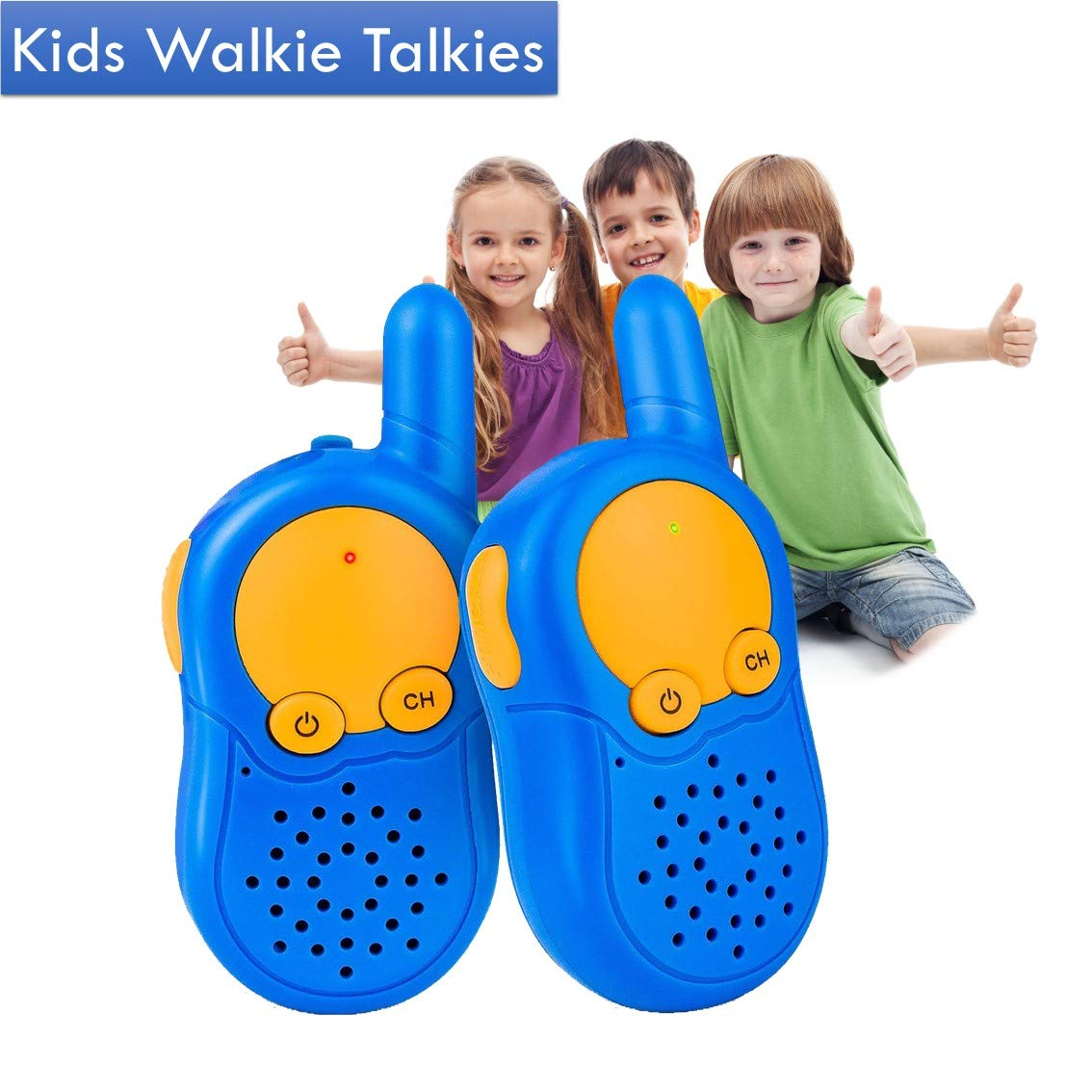 5 Year Old Gift Boy Walkie Talkies, Kids Walkie Talkie for Toddler, Long Range Simple Easy Radio Communication Kid Fun Toys Gifts, Children Toys for 4 5 6 7 8 Year Old Boy Birthday Present KOMVOX